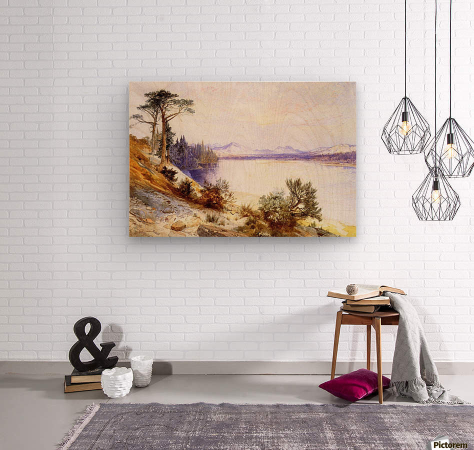 Head of the Yellowstone River  Wood print