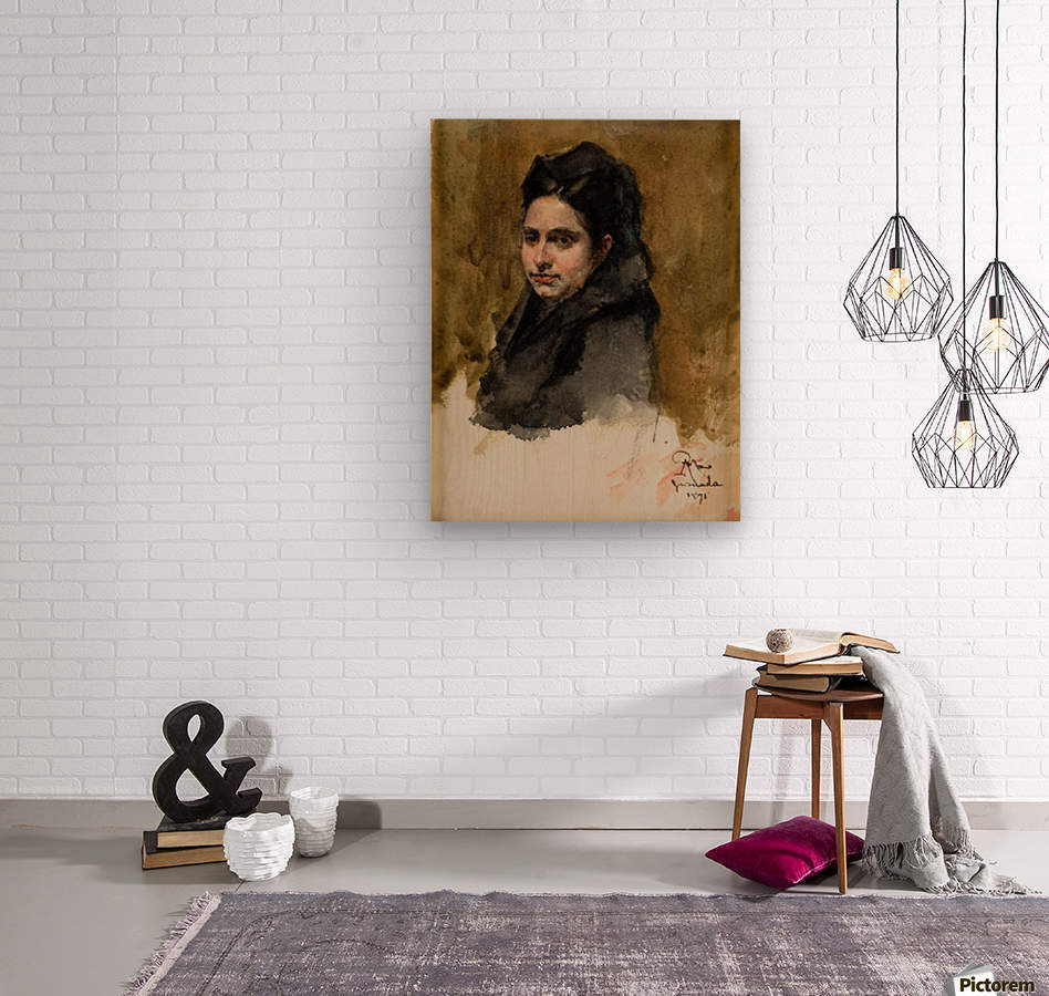 A young Oriental woman  Impression sur bois
