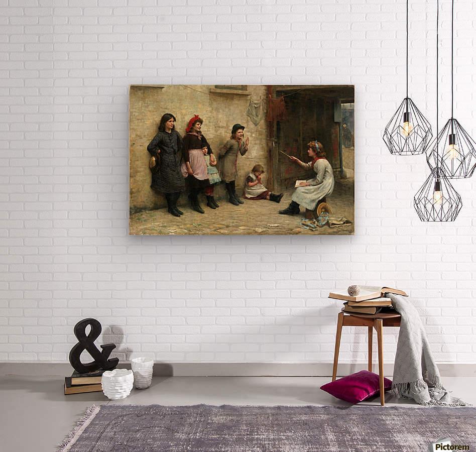 Candidates for Girton 1884  Wood print
