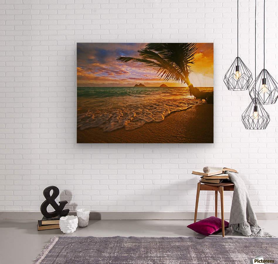 Lanikai Beach Sunset  Wood print