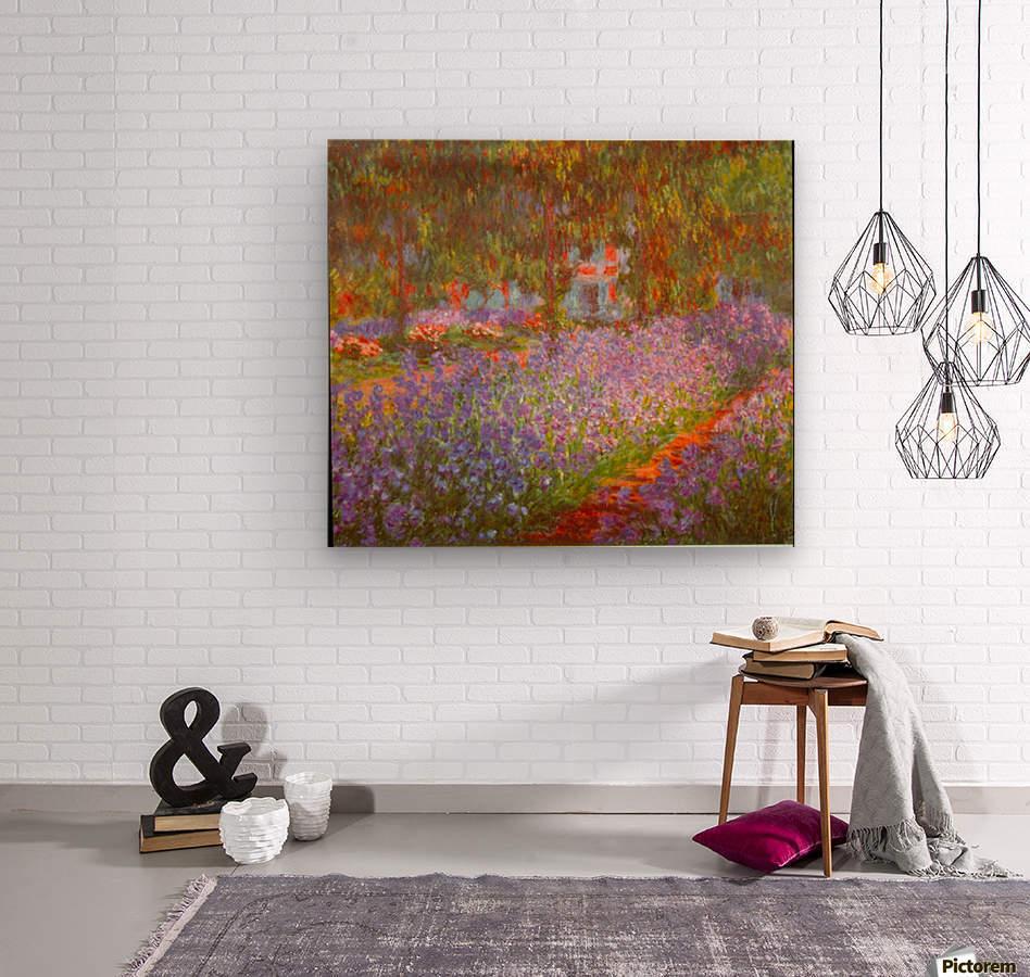 Monets Garden by Monet  Wood print