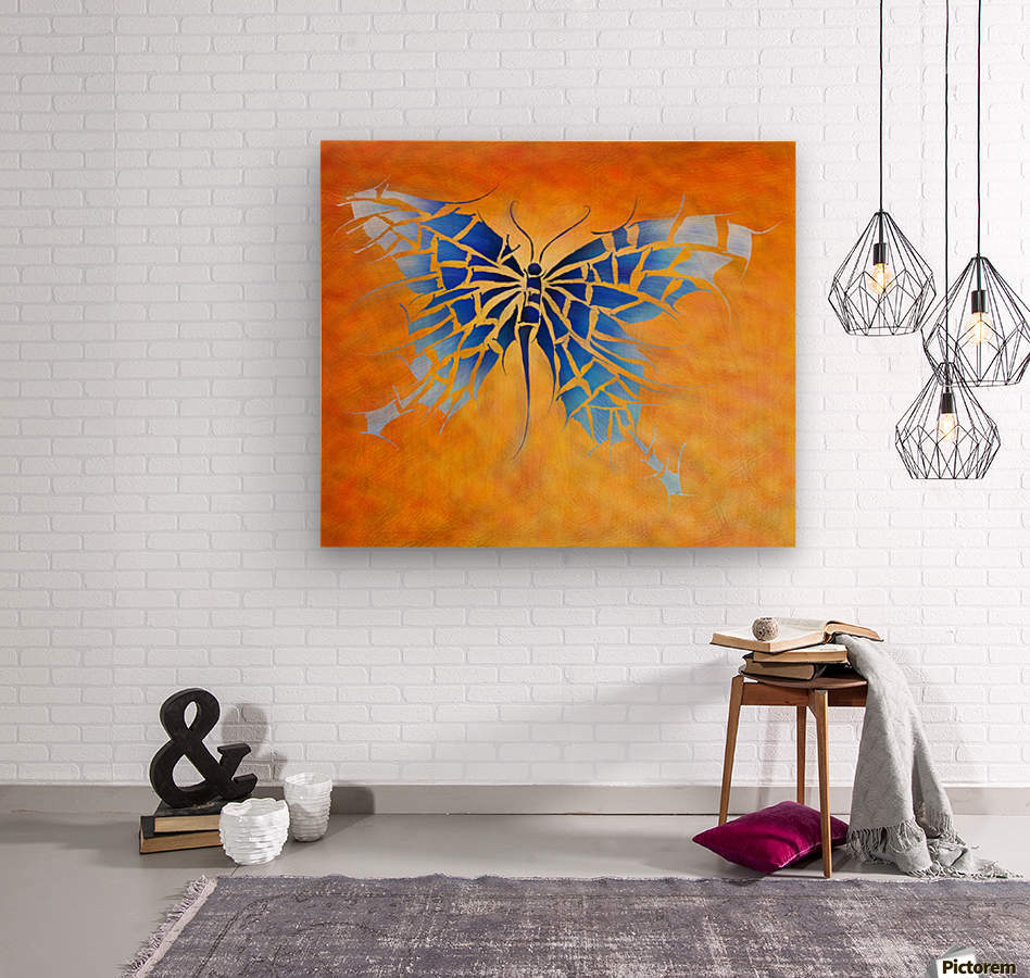 Tropenillo V1 - the blue butterfly  Wood print