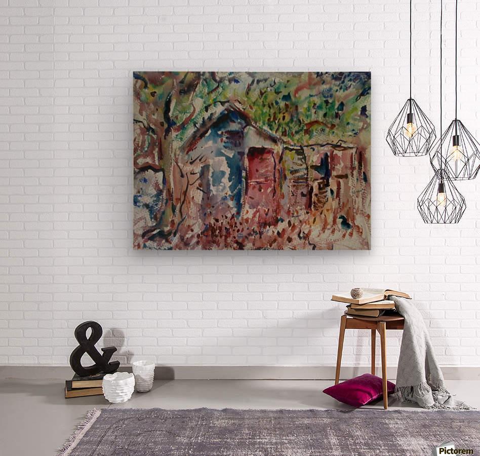 The Hut  Wood print