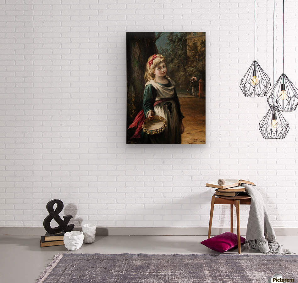 A young blonde girl  Impression sur bois