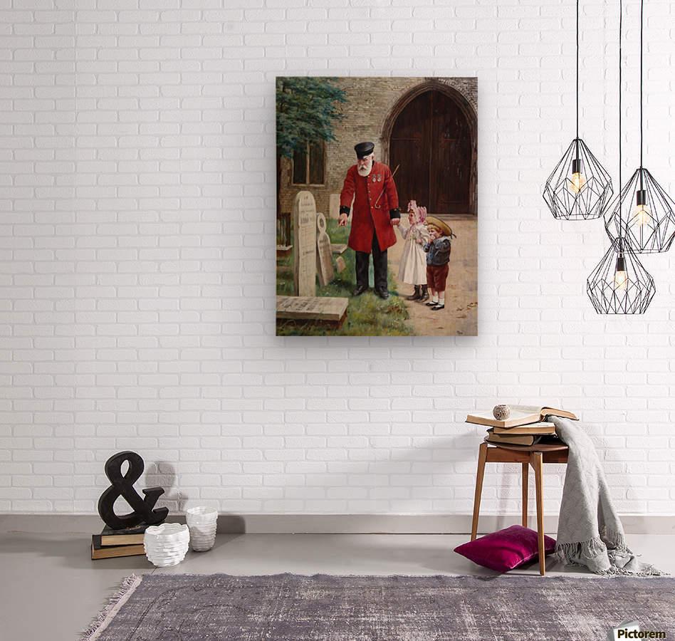 A walk with Grandpa  Impression sur bois