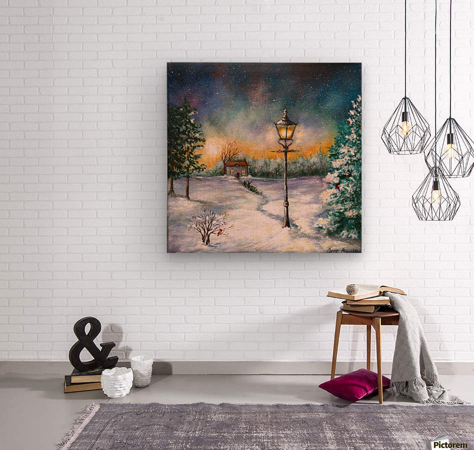 Light My Way  Wood print