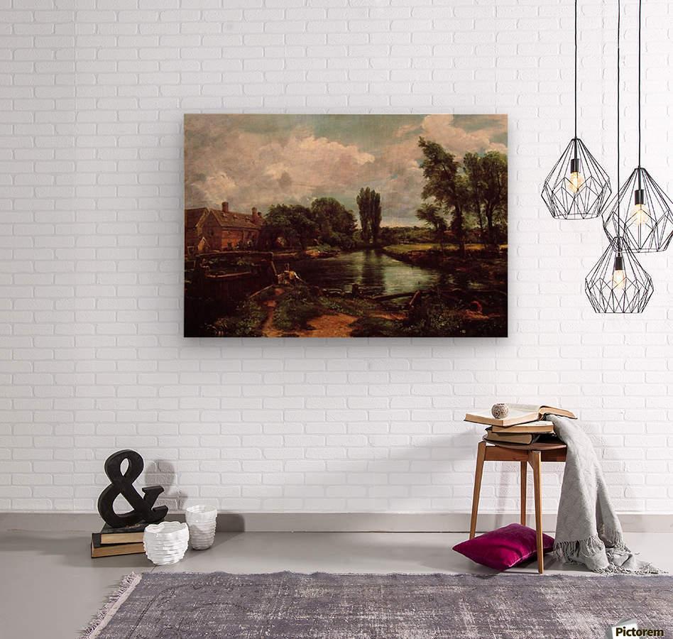 Flatford mill  Wood print