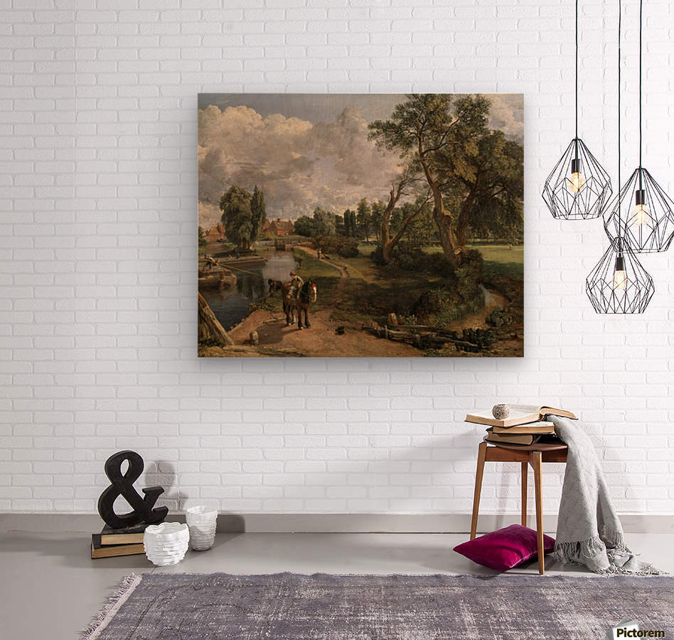 Scene on a Navigable River  Wood print