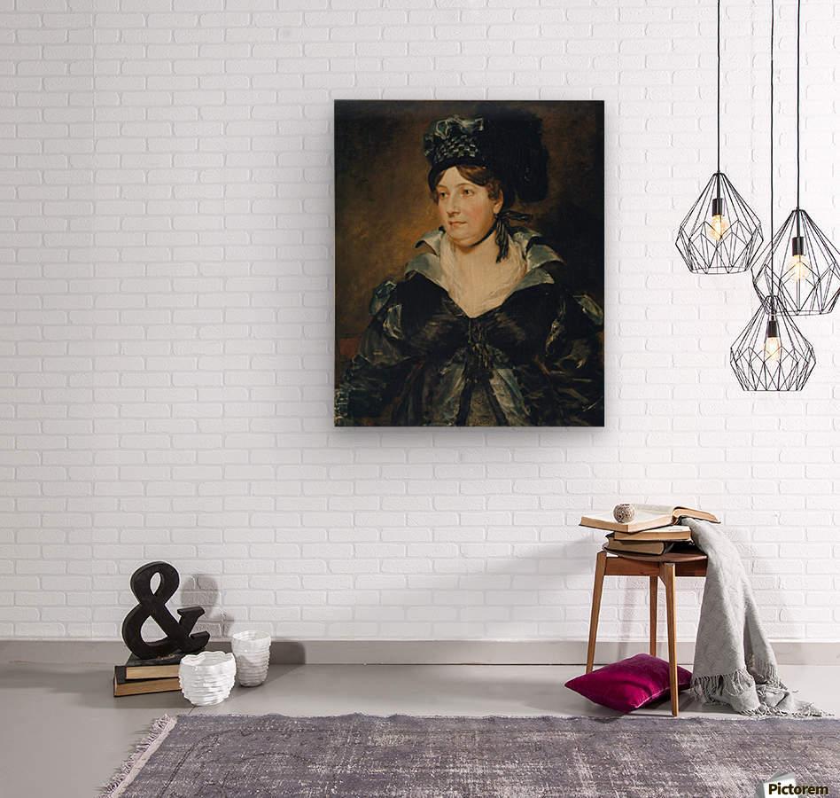 Mrs. James Pulham  Wood print