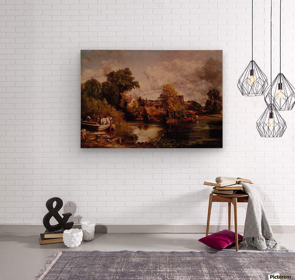 The White Horse  Wood print