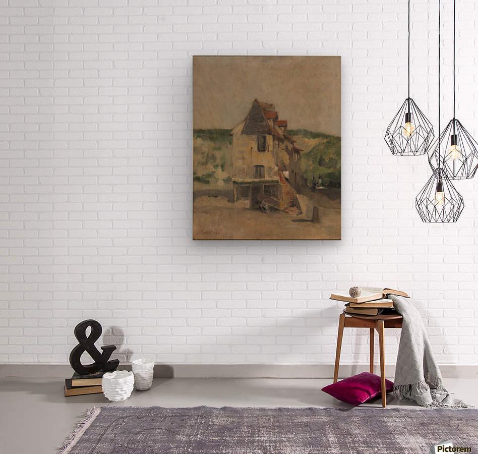 A farmhouse  Wood print