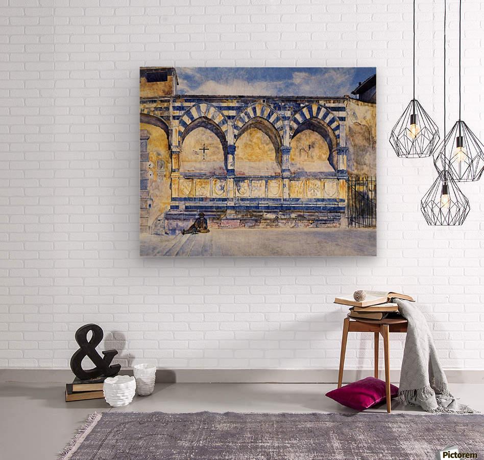The Three Arches of Santa Maria Novella  Wood print