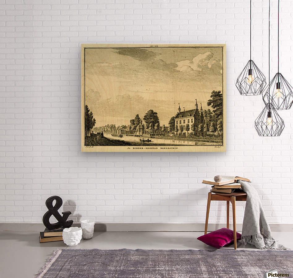 Ridderhofstad Boelestein  Wood print