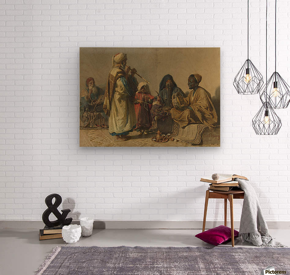 A party with music  Wood print