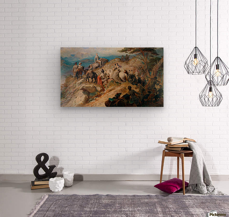 Morning in the Highlands  Wood print