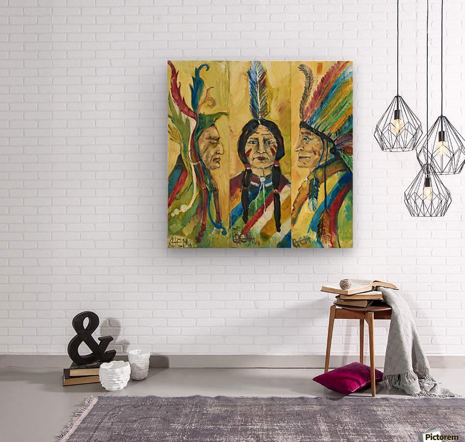 tribe  Wood print