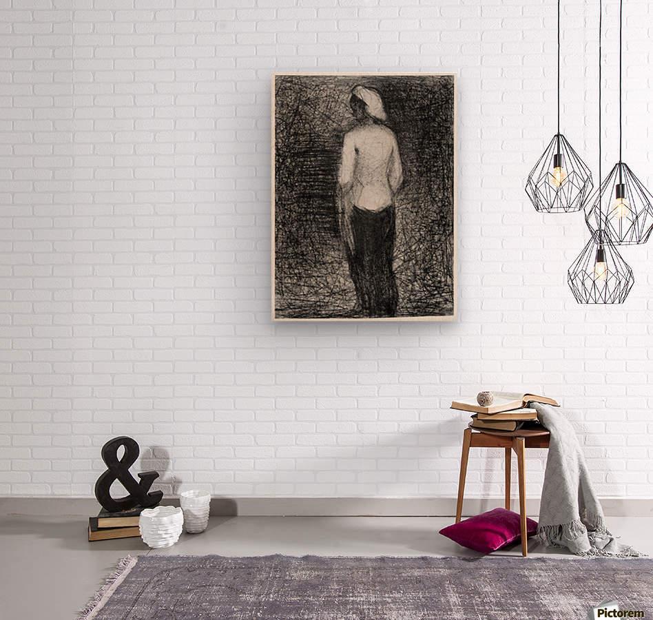 Artist by Seurat  Wood print