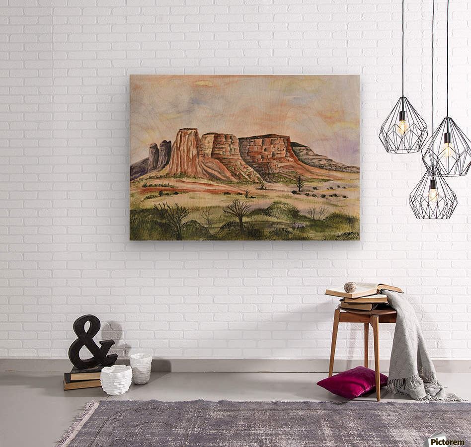 Buttes of Sedona   Wood print