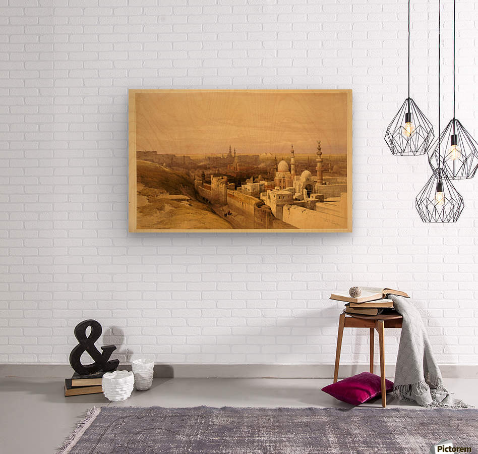 View of Old Cairo  Wood print