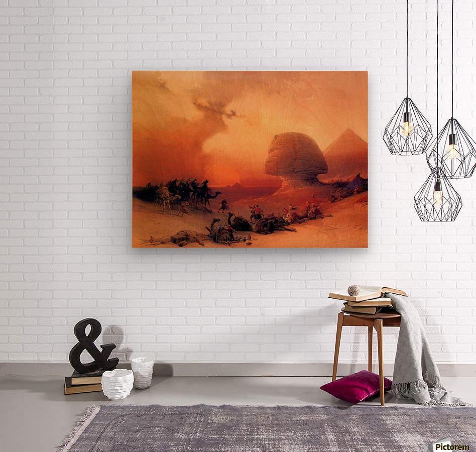 The Sphinx at Giza  Wood print