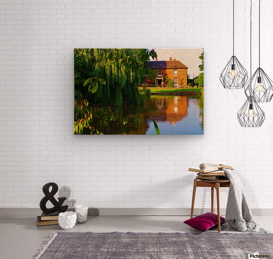 Fish pond Seckington  Wood print