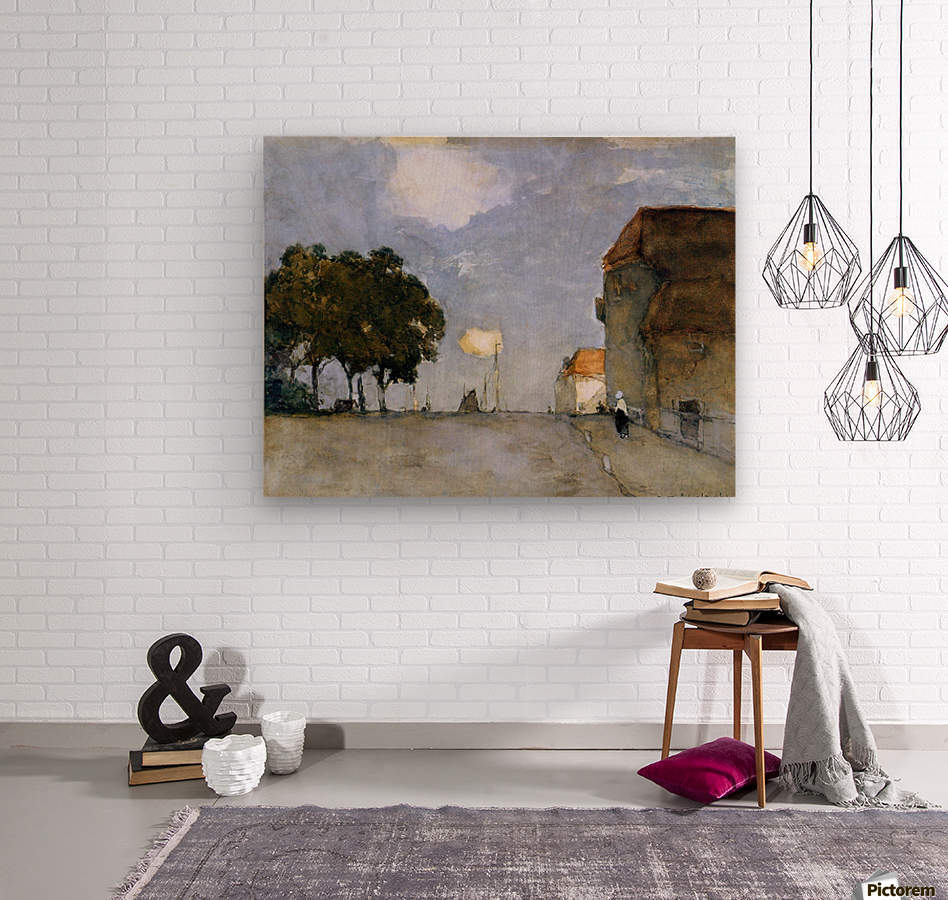 Ships in harbour  Wood print