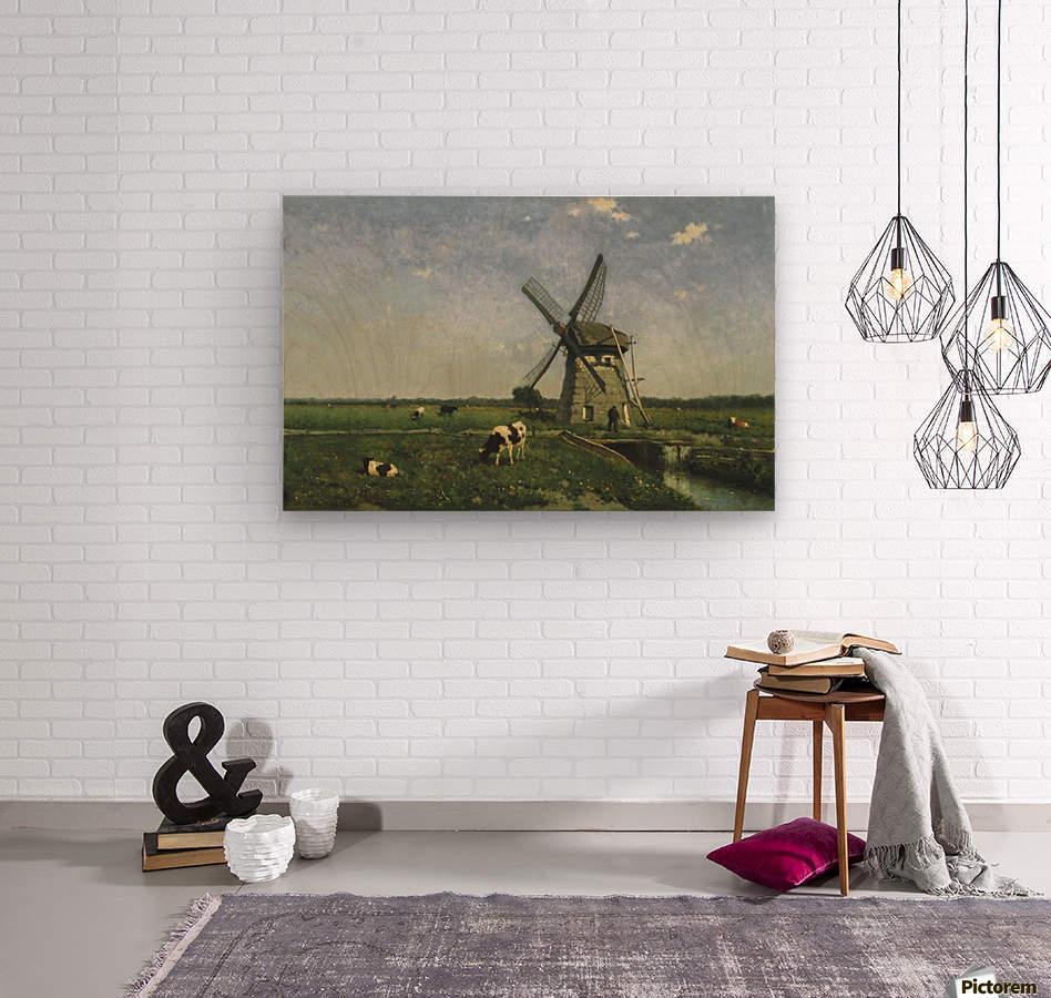 Landscape with Windmill near Schiedam  Wood print
