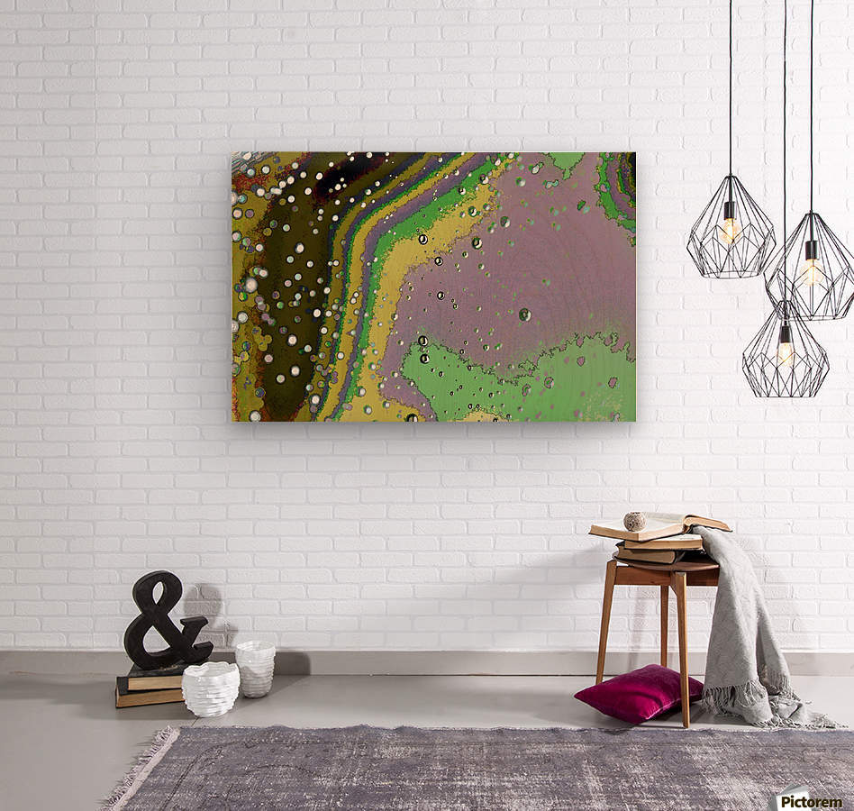 Raindrops 4    Wood print
