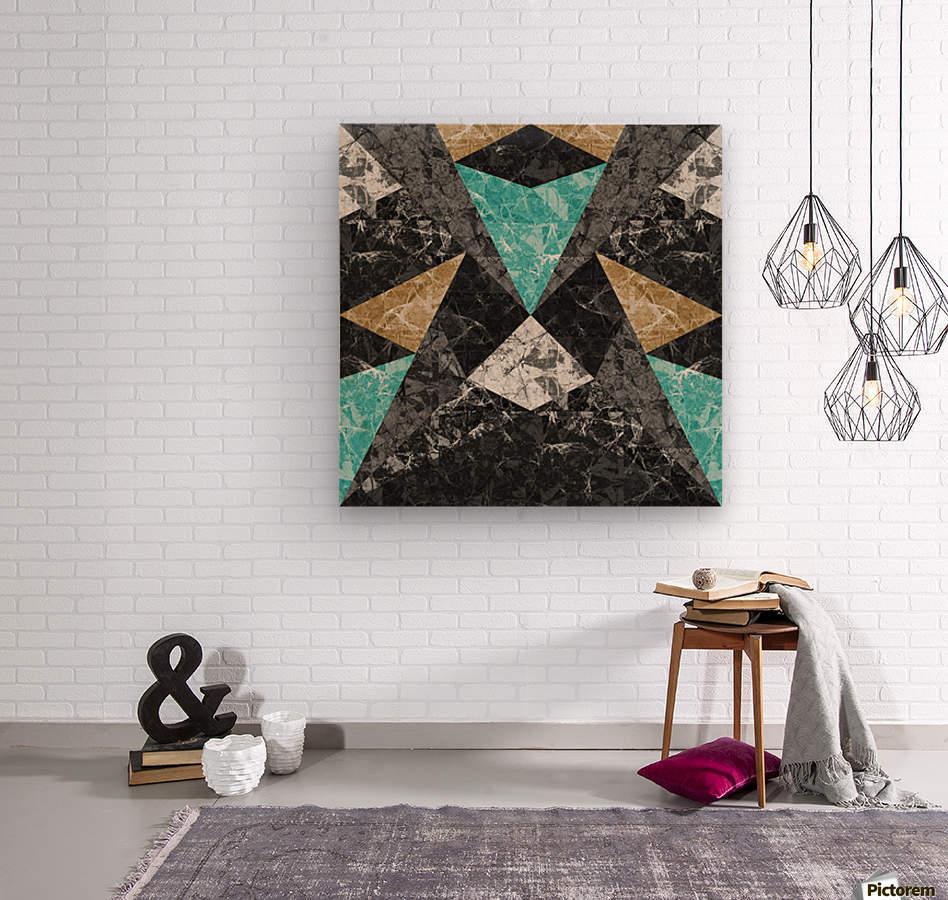 Marble Geometric Background G430  Wood print