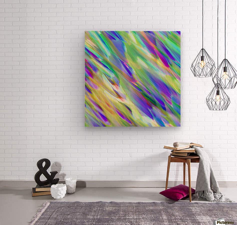Colorful digital art splashing G401  Wood print