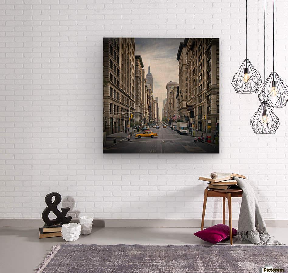 NEW YORK CITY 5th Avenue    Wood print