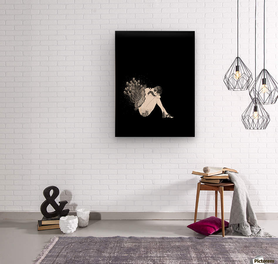 Toadstool   Wood print