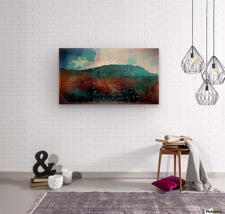 rainwindowflag  Wood print