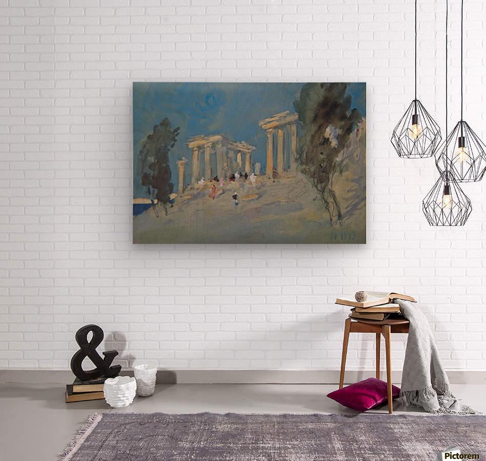 Paestum, Italy  Wood print