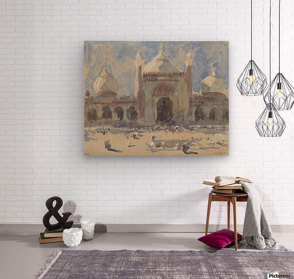 Entrance to the Jama Masjid, Delhi  Wood print