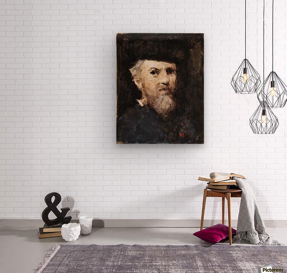 A souvenir of a self-portrait by Jean-Jacques Henner  Wood print
