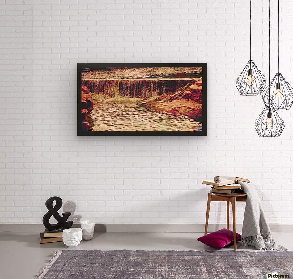 Medicine Park waterfall pic art  Wood print