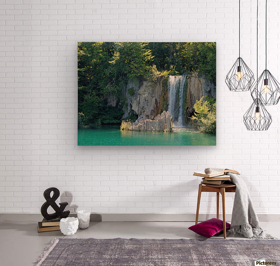 waterfall - Plitvicer lakes-nationalpark  Wood print