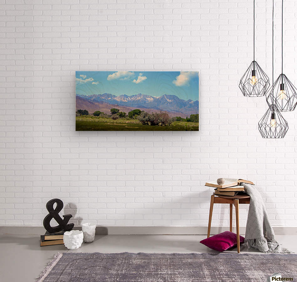 Mountain Valley  Wood print