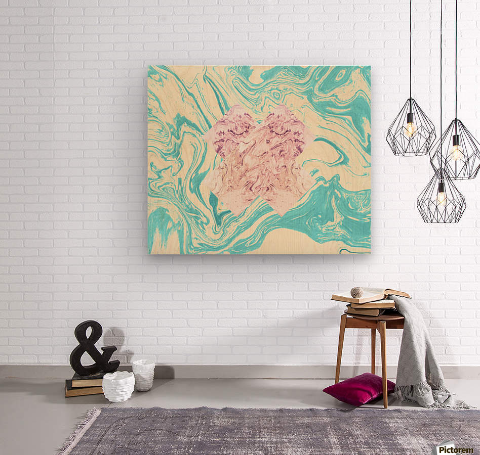 The X Marble File  Wood print