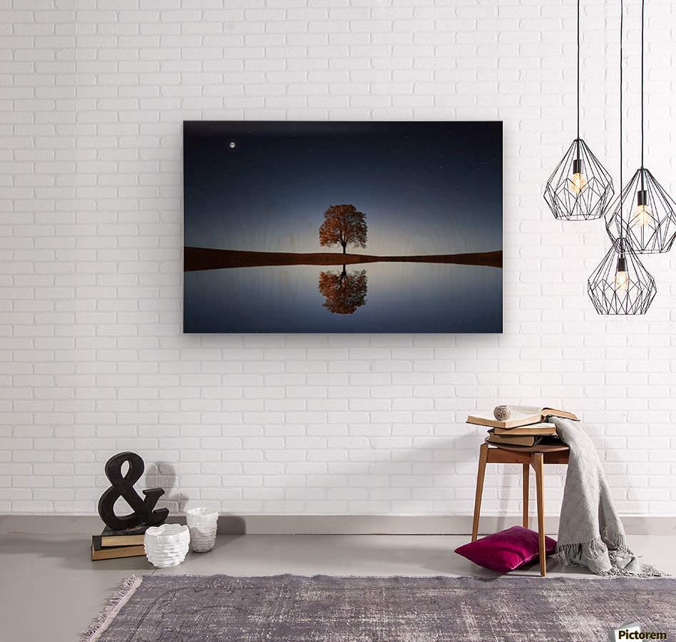 Reflection tre  Wood print