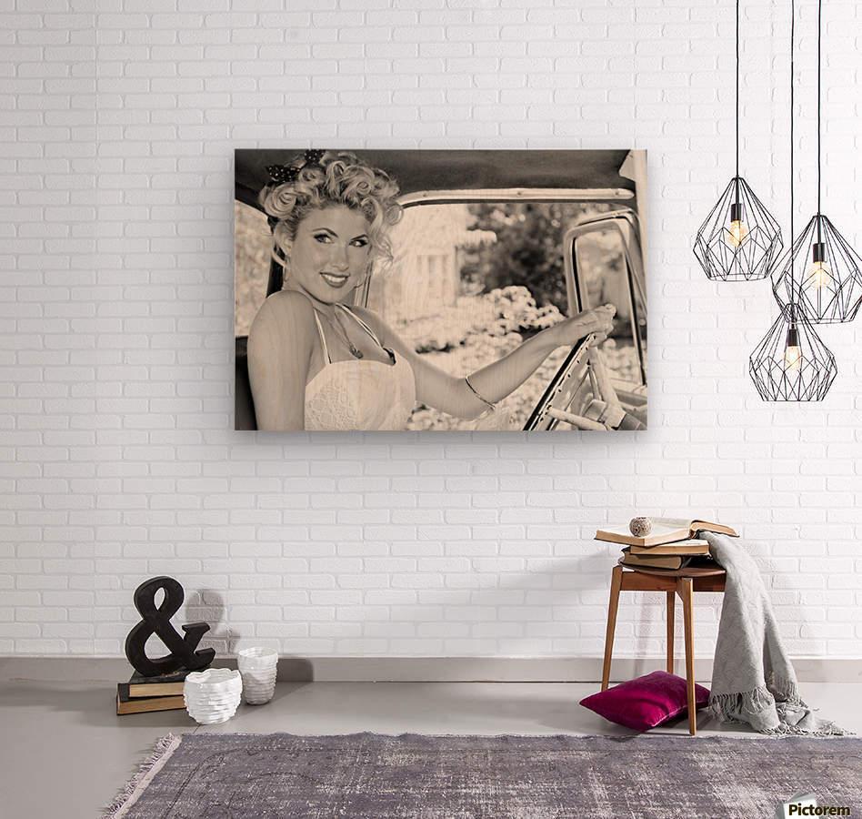 ©Lou Freeman Dark Glamour & Beauty Black & White    77  Impression sur bois