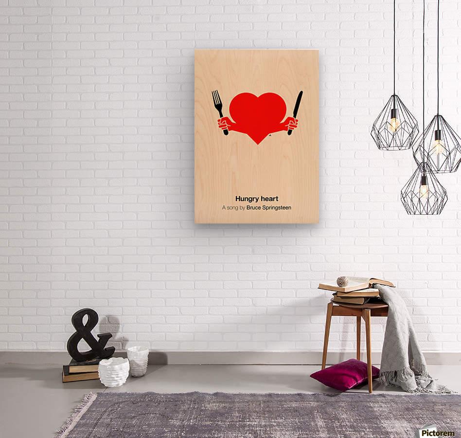 Hungry heart  Wood print