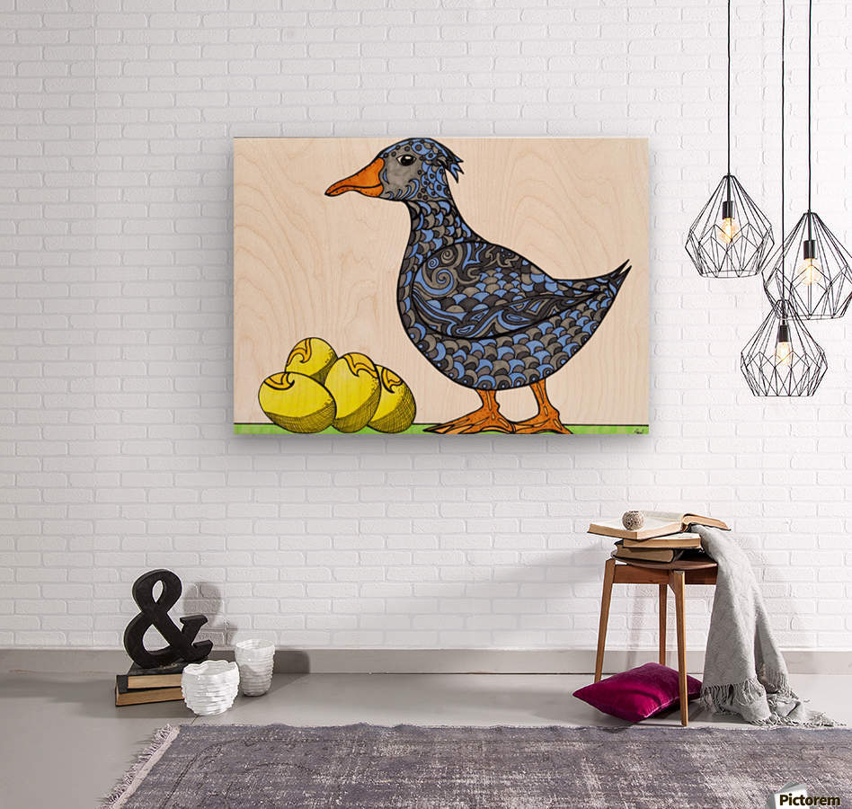 Goose and Golden Eggs  Wood print