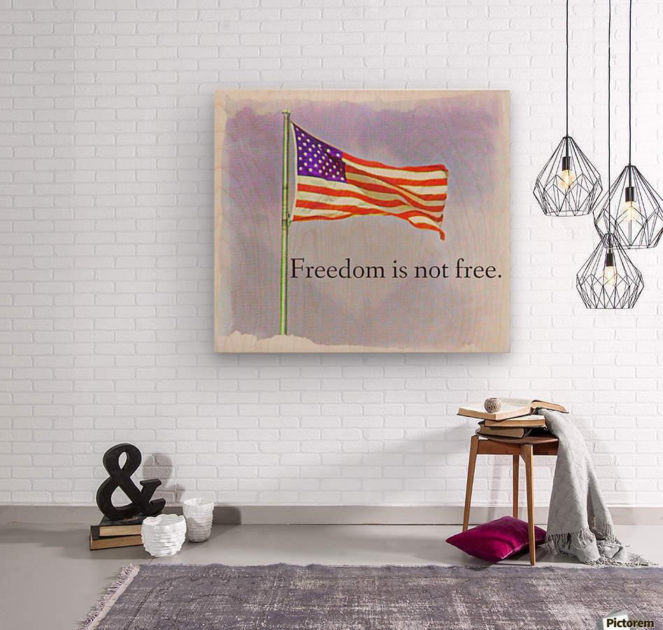freedomIsnofree  Wood print