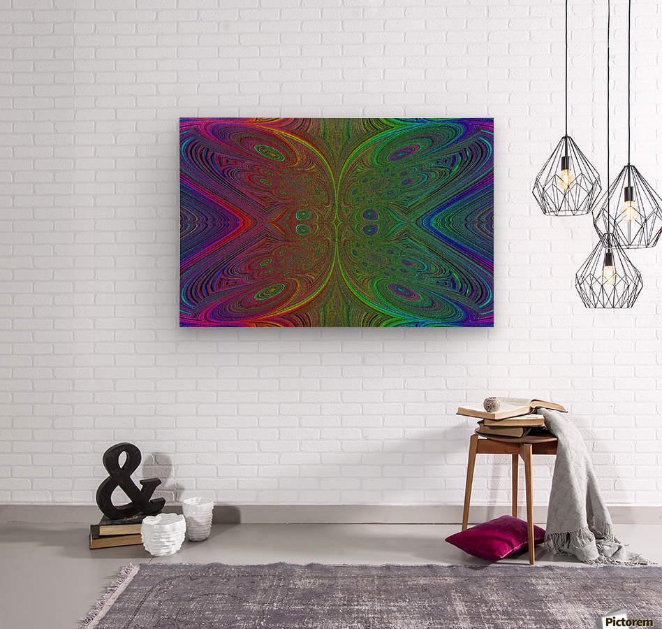 Digital Butterfly Rainbow 1  Wood print