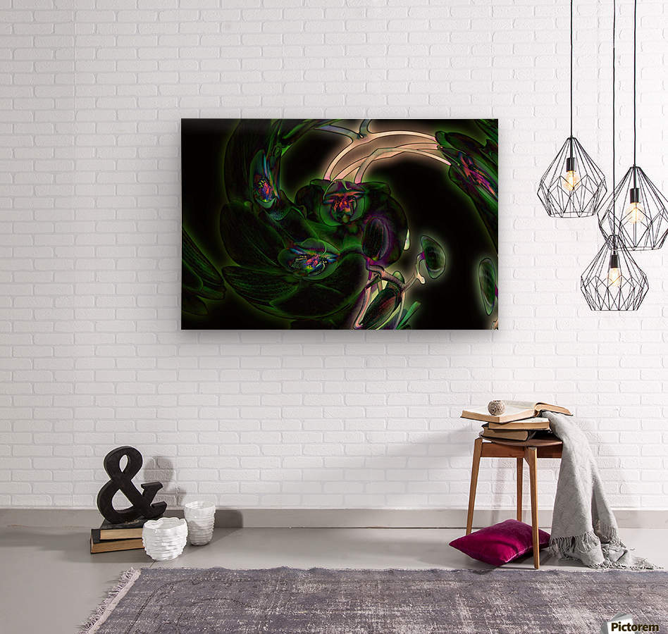 Orchid in Glow  Wood print