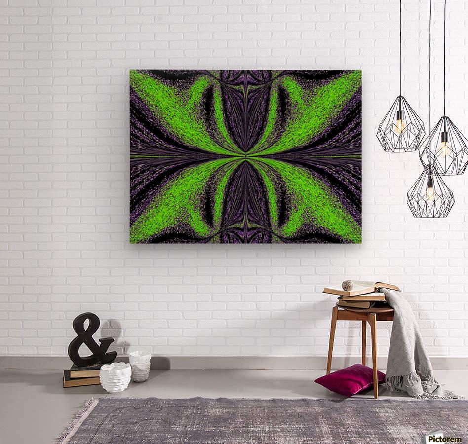 Green Butterfly 3  Wood print