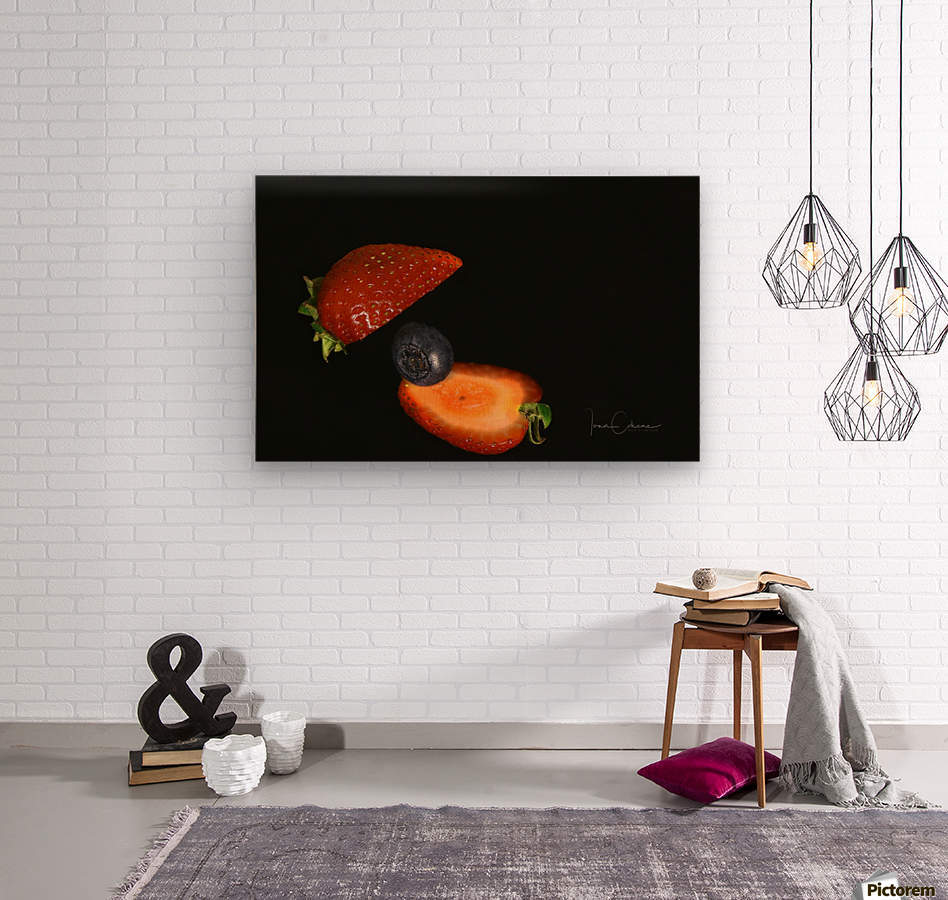 Strawberry  Wood print