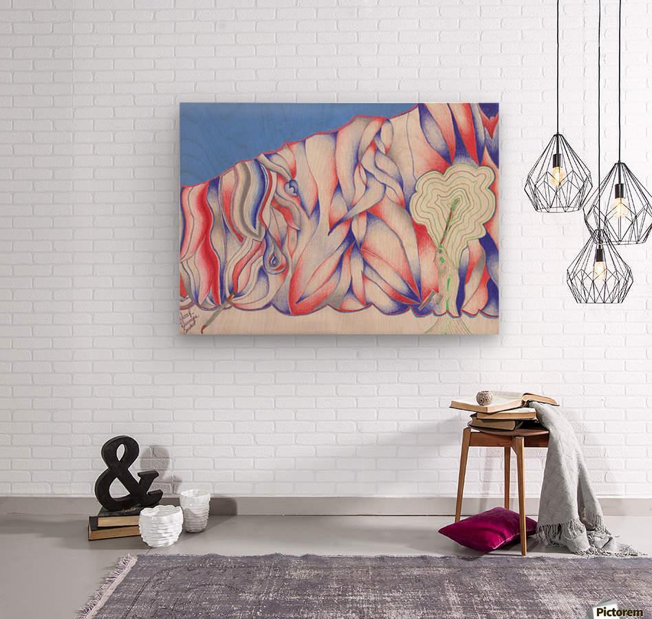 the color of Rain  Wood print